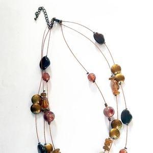 Jewelry - 3 strand copper colored wire bead necklace